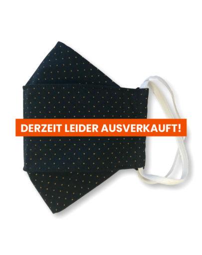 """Stoffmaske """"ORIGAMI"""" – Schwarz gelbe Punkte"""