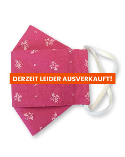"Stoffmaske ""ORIGAMI"" – Trachtenstoff pink"