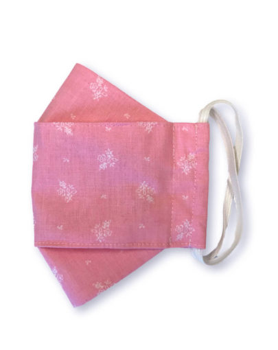 "Stoffmaske ""ORIGAMI"" – Trachtenstoff rosa"