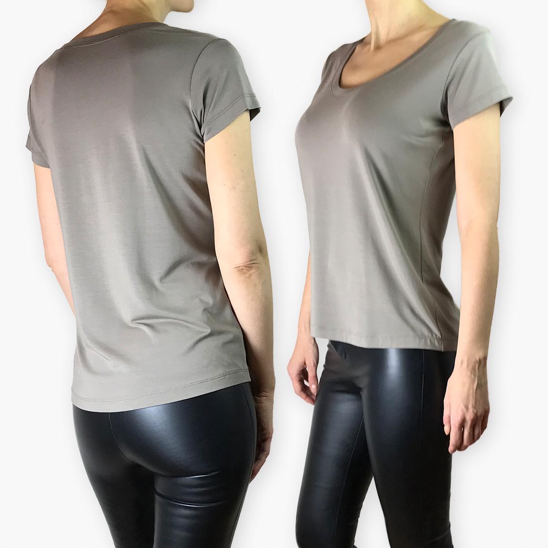 Tabata-01 - Basic T-Shirt mit Rundhalsausschnitt Schnittmuster + Schritt-für-Schritt Nähanleitung